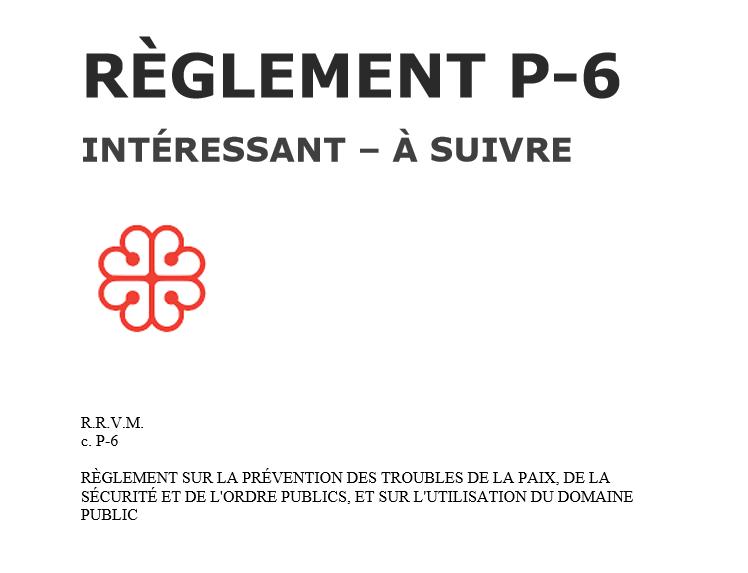 Reglement P-6