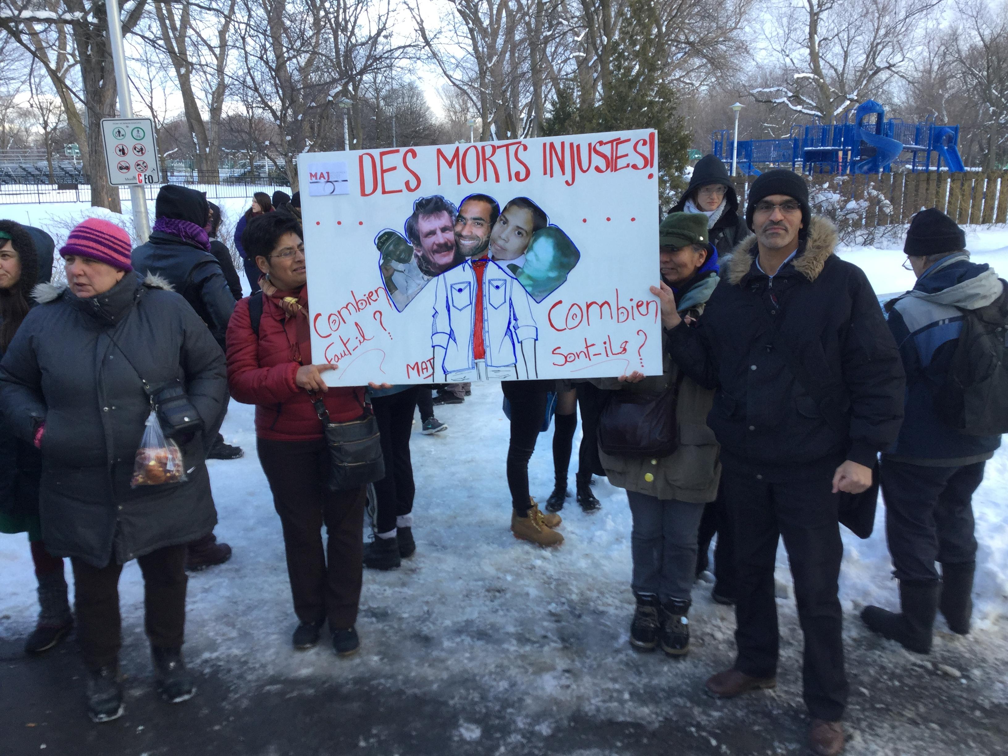 La manifestation contre la brutalité policière