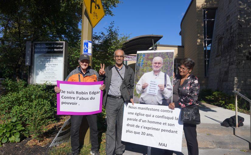 Manifestation en appui à M. Robin Edgar